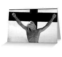 Jesus on the cross 3 Greeting Card