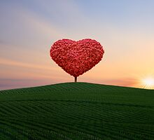 The little red heart tree  by chrissiexxx68