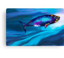 BowHead WHale Swimming Along Canvas Print