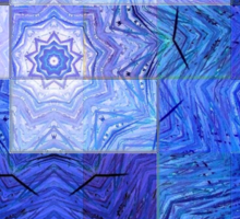 Blue Mosaic-Available As Art Prints-Mugs,Cases,Duvets,T Shirts,Stickers,etc Sticker