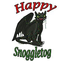 Toothless - Happy Snoggletog Photographic Print