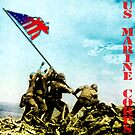Flag at Iwo Jima - US Marine Corps by Ryan Houston