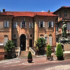 Municipal Hall and Square, Bra Piedmont Italy by MaluC