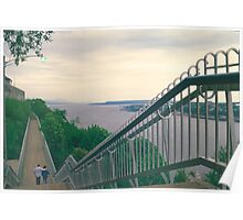 Evening Walk along the St. Lawrence River Poster