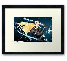 Elf Gear Rising: Thranduil's Revengeance  Framed Print