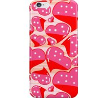 PINK AND RED DOTTED HEARTS iPhone Case/Skin