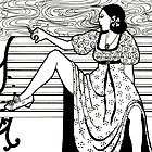 smoking lady by purplestgirl