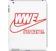 WWE Just Blew It. (Red Outline, White Inside) iPad Case/Skin