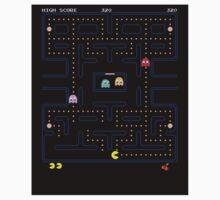 Original PacMan - Video Game Gamer Vintage Retro Black Arcade  Kids Clothes