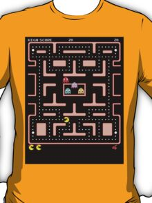 Original Ms. PacMan - Video Game Gamer Vintage Retro Black Arcade T-Shirt