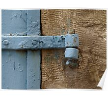 Blue shutter Poster