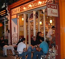 Cafe Diana, Bayswater Road, Kensington by WonderlandGlass
