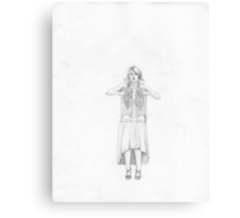 Exposure , Cute Girl with Xray Skelton in dress Canvas Print