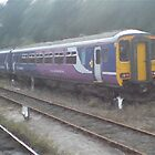 Northern Rail Passenger Train (Oil Painting Effect) by Glen Allen