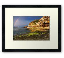 Rainbow over the sea Framed Print