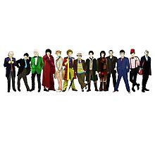 Doctor Who - The 13 Doctors (alternate lineup) Photographic Print