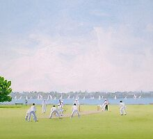 'Saturday Arvo Cricket Match' by Maureen Silc