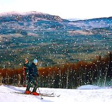 Skiing Mt. Sugarloaf by George  Link