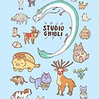 Animals of Studio Ghibli V2 by Steph Hodges