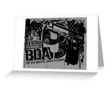BDA 9 Greeting Card