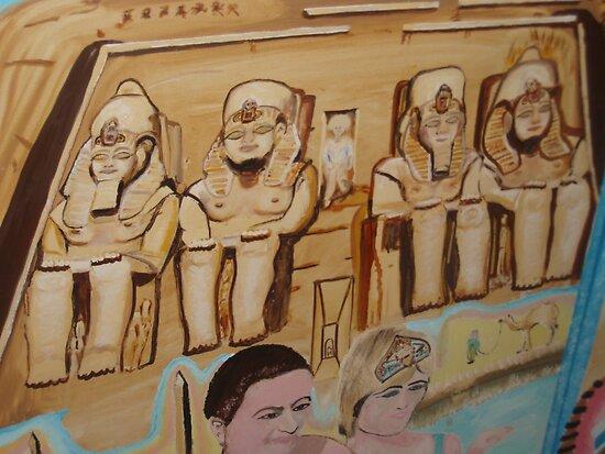 Ramesses II Temple of Abu Simbel  1250 BC by Sunil