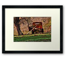 """""""Just Been Waiting on Parts"""" Framed Print"""