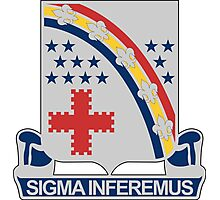 167th Infantry Regiment - SIGMA INFEREMUS - We Shall Drive Forward Photographic Print