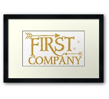 First COMPANY with arrows Framed Print
