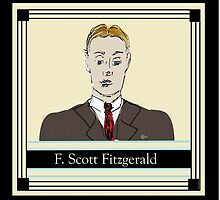 F Scott Fitzgerald Portrait in 60 seconds in yellow by CecelyBloom