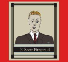 F Scott Fitzgerald Portrait in 60 seconds in yellow Kids Clothes