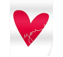 Love You Red Poster