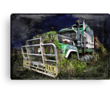 Night of the Road Train Canvas Print
