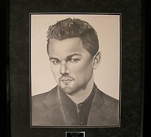 Leonardo Di Caprio 35'x40' Museum Mounted all Original Graphite Portrait by YESSE