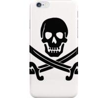 Pirate Logo (Black) iPhone Case/Skin