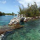 Quaint old foot bridge,  Bermuda by John Gaffen