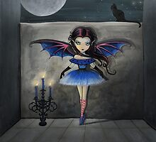 Little Dancer Gothic Vampire Art by Molly Harrison by Molly  Harrison