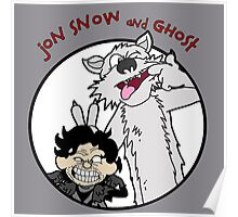 Jon Snow and Ghost Poster