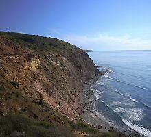 cliff view, off Cactus Canyon Rd, Sellick's Beach  by shallay