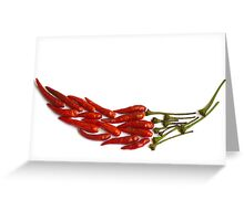 Chili Pepper Mosaic Greeting Card