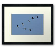 Upsidedown Seven Framed Print