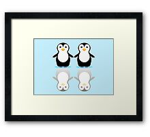 PENGUIN PAIR ON ICE Framed Print