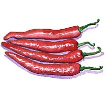 Red Hot Chilis Photographic Print
