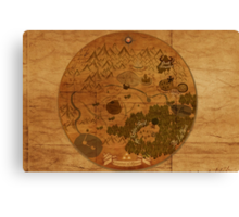 Hyrule Map: Antique style map of Hyrule (OoT) Canvas Print