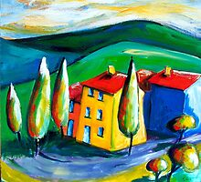TUSCANY  FARM - ITALY by ART PRINTS ONLINE         by artist SARA  CATENA