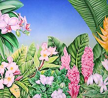Tropical Garden by joeyartist