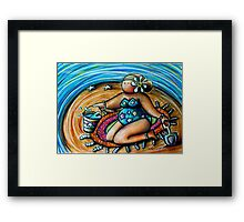 Bucket and Spade Maiden Framed Print