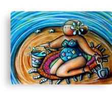 Bucket and Spade Maiden Canvas Print