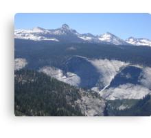 Panoramic View of Yosemite Valley Canvas Print