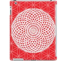 Red & White Geometric Eye iPad Case/Skin