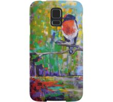 Red Crested Robin in Paradise  Samsung Galaxy Case/Skin